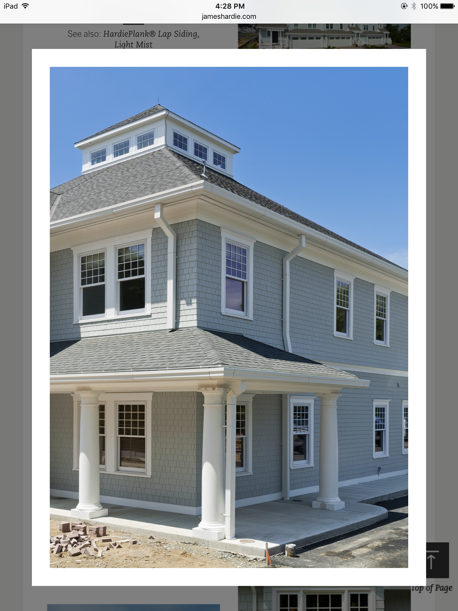 Hardy Board Siding >> Hardie board straight shingles in light mist | First impressions in 2019 | Exterior house colors ...