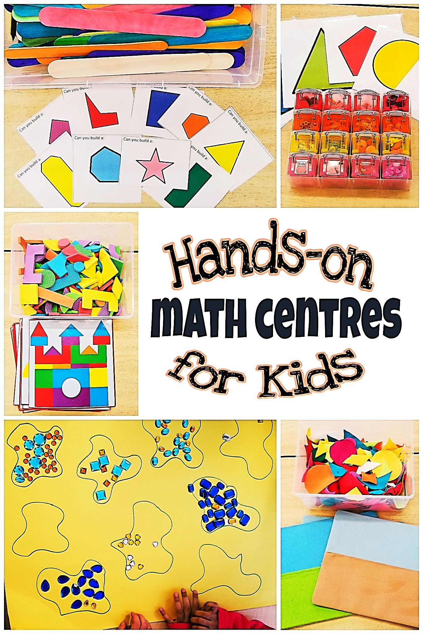 5 Hands-on math centres for young kids to practice various ...