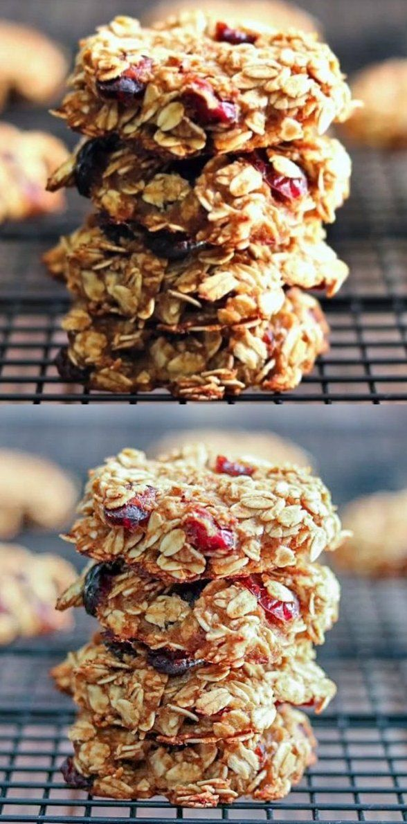 Healthy Cranberry Oatmeal Breakfast Cookies With No Butter Oil Eggs