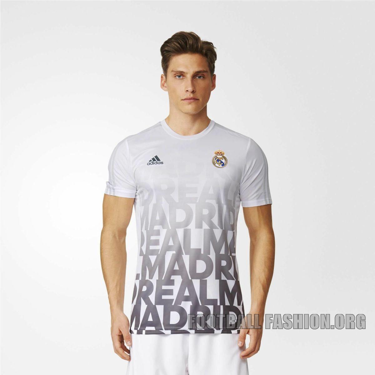 Real Madrid 2016 Adidas Pre Match Jersey Football Fashion Org Real Madrid Madrid Athletic Shirts