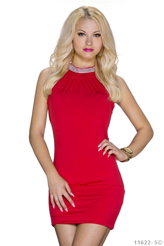 Vestito rosso in viscosa elasticizzata per occasioni cocktail df40a4ef7fd