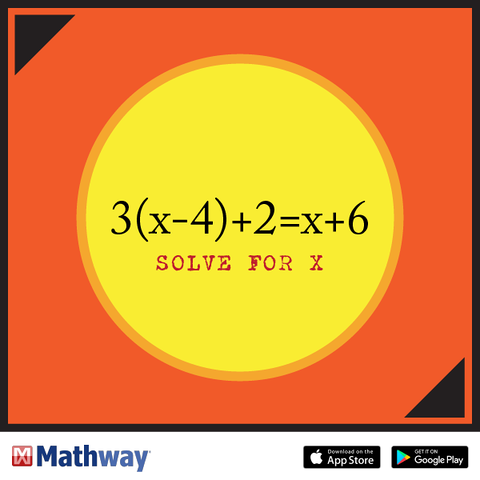 Use this problem for practice to solve for x. Check your