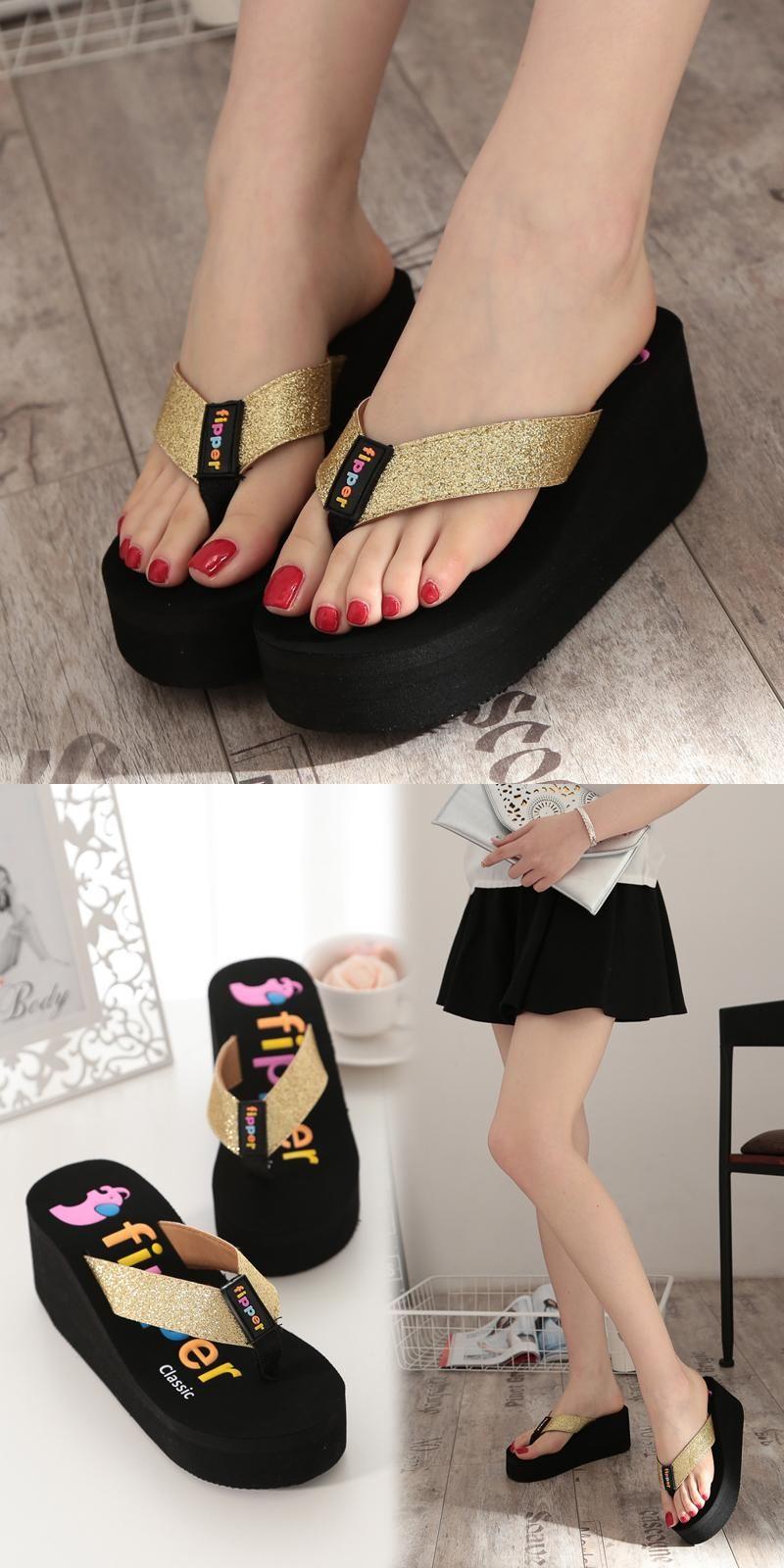 d66e0664fd928a  Visit to Buy  Summer Flip Flops Women Sandals 2016 New Wedges Women s  Slippers Flip