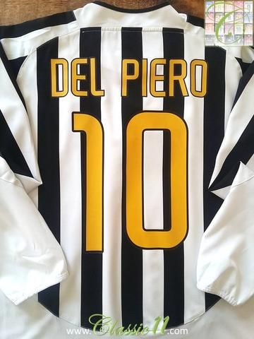 86dc783e424 Relive Alessandro Del Piero s 2003 2004 Serie A season with this original  Nike Juventus home long sleeve football shirt.