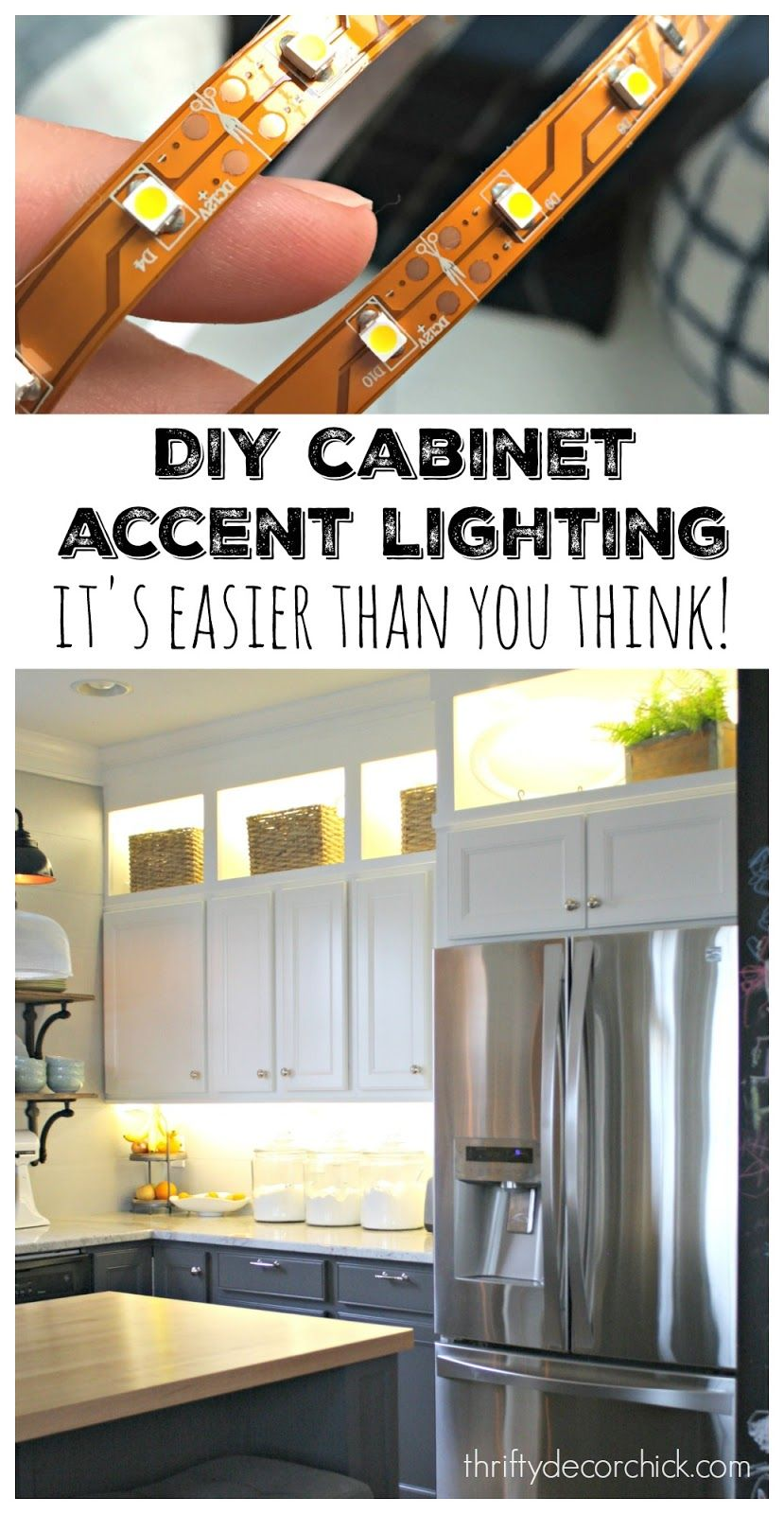 DIY Upper and Lower Cabinet Lighting | Decorating your home | Home on