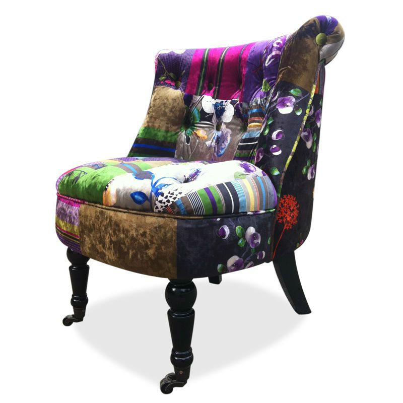 Hima Printed Flannel Occasional Chair Accent Chair 2 More Favorable