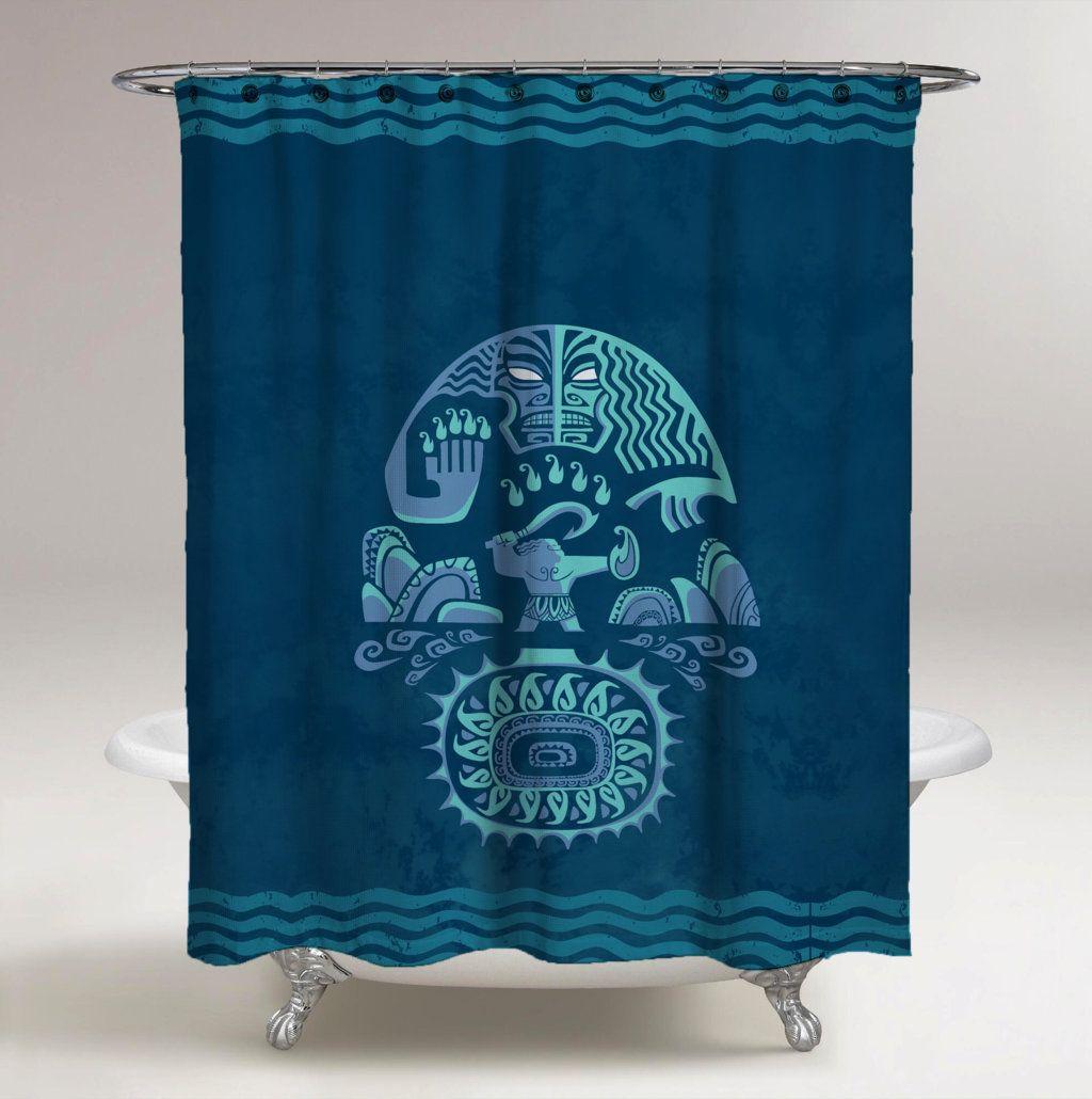 Disney Moana Shower Curtain Blue // White