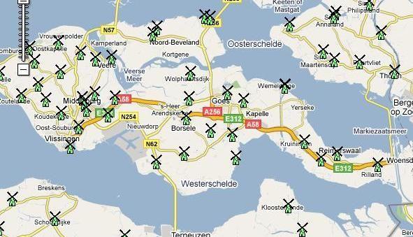 Wind Mills in Zeeland The Netherlands Maps Pinterest Wind
