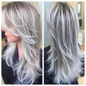 Platinum Ombre Hairstyles Photos And Video Tutorials Hair Styles Silver Hair Color Grey Hair Color