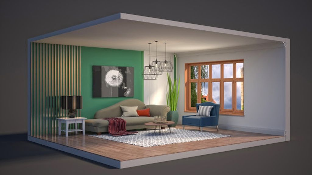 3d Illustration Interior Of The Living Room In A Box Paid Sponsored Affiliate Interior Box Room Illustration Room Living Room Interior