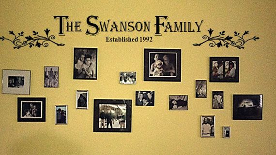Family Name Established Vinyl Wall Decal 12\