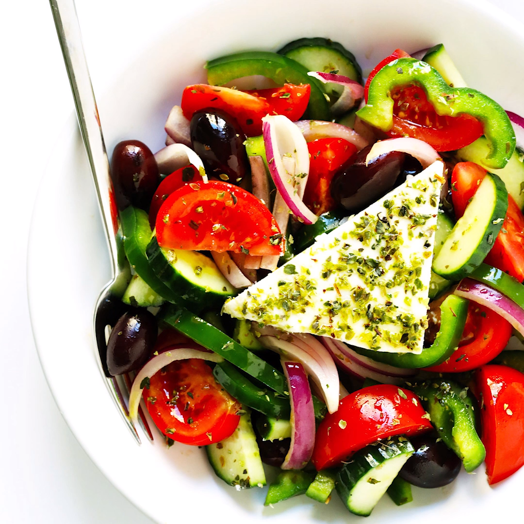 Authentic Greek Salad   Gimme Some Oven