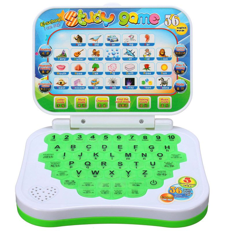 Kids Children Educational Learning Machine Alphabet Computer Laptop Music Toys