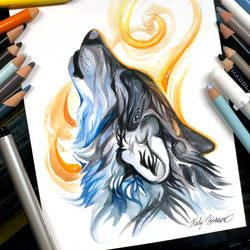 Howling Wolf by KatyLipscomb on DeviantArt