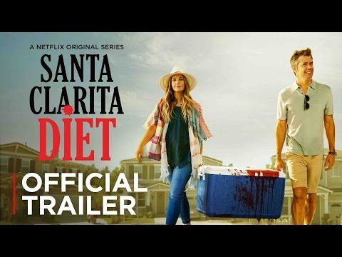 Drew Barrymore Feasts On The Living In Netflix S Official Trailer For Santa Clarita Diet Santa Clarita Diet Shows On Netflix Netflix