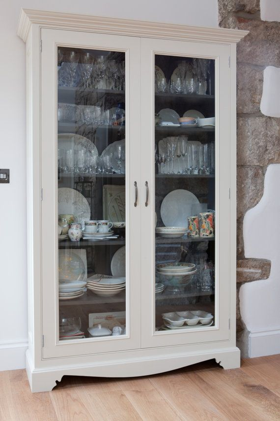 Glass Fronted Kitchen Storage Cabinet by GRKfurniture on ...