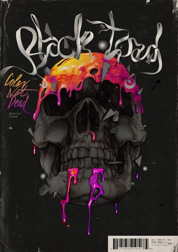 "Black Toad magazine special issue ""Color not dead"". Illustration by Polish designer Grzegorz Domaradzki. ( http://www.iamgabz.com )"