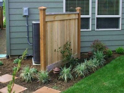 Fence Hidden AC | Backyard fences, Backyard, Landscape design
