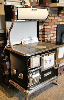 these have that antique look of wood burning cook stoves, but have