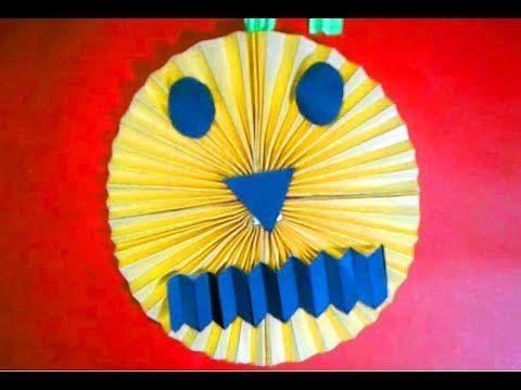 Diy paper Pumpkin-eaasy paper craft for halloween decoration