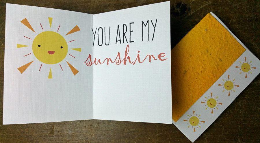 Plantable you are my sunshine seed paper greeting card grows plantable you are my sunshine seed paper greeting card grows wildflowers m4hsunfo