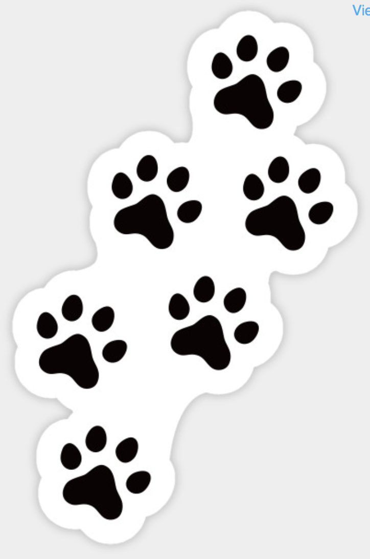 Black And White Animal Track Paw Print Sticker Ideal For Dog Or Cat Lovers Animal Pet Graffiti Alfabesi Cikartma Stickers