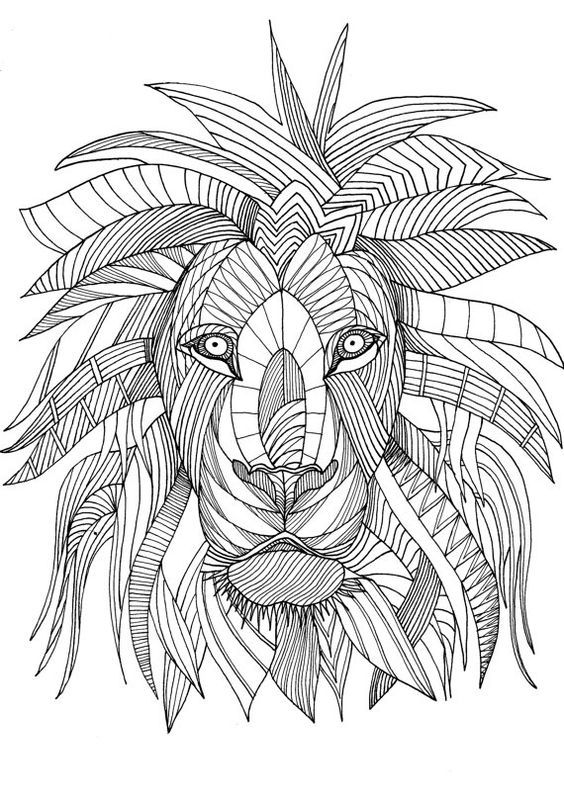 Pin de Barbara en coloring lion, tiger | Pinterest | Mandalas ...