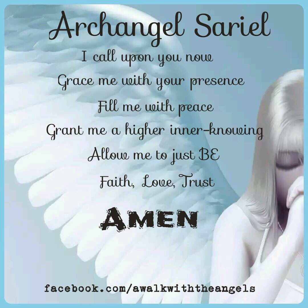 Archangel sariel prayer engele wat ons bewaar pinterest archangel sariel prayer biocorpaavc Images