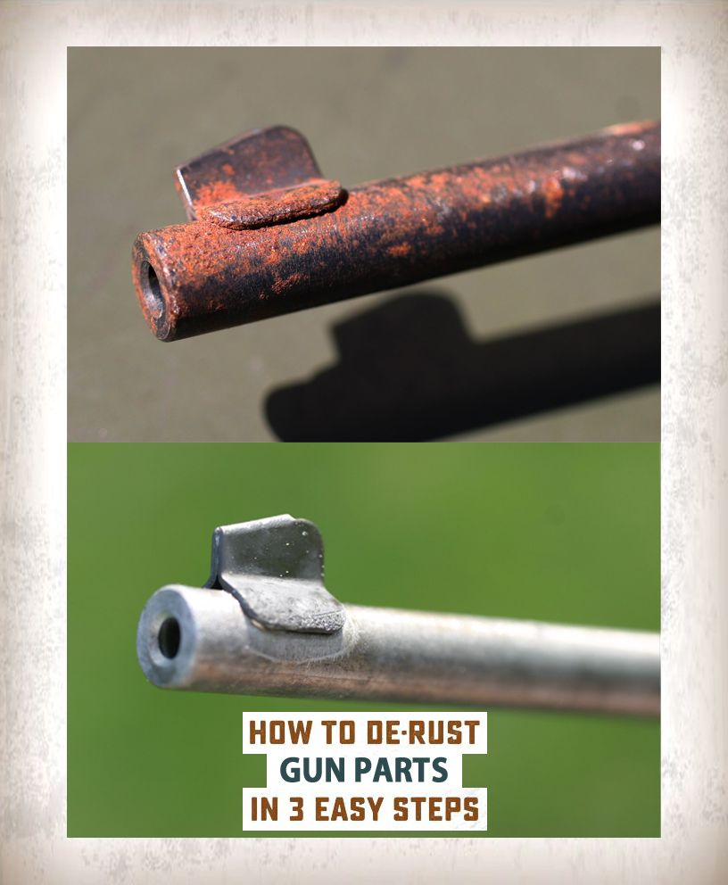 How To Remove Rust From Gun Parts In Three Easy Steps Using Metal Rescue Remover Bath Caution Will Bluing