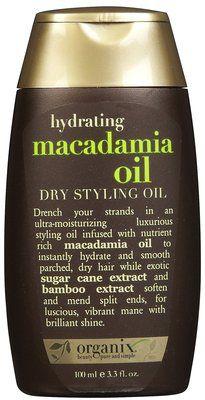 Organix Macadamia Oil Dry Styling Oil Beautylish Dry Styling Macadamia Oil Frizz Free Hair