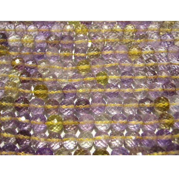 Ametrine  Ametrine Faceted Rondelles 6mm   5 Inch by gemsforjewels, $20.00