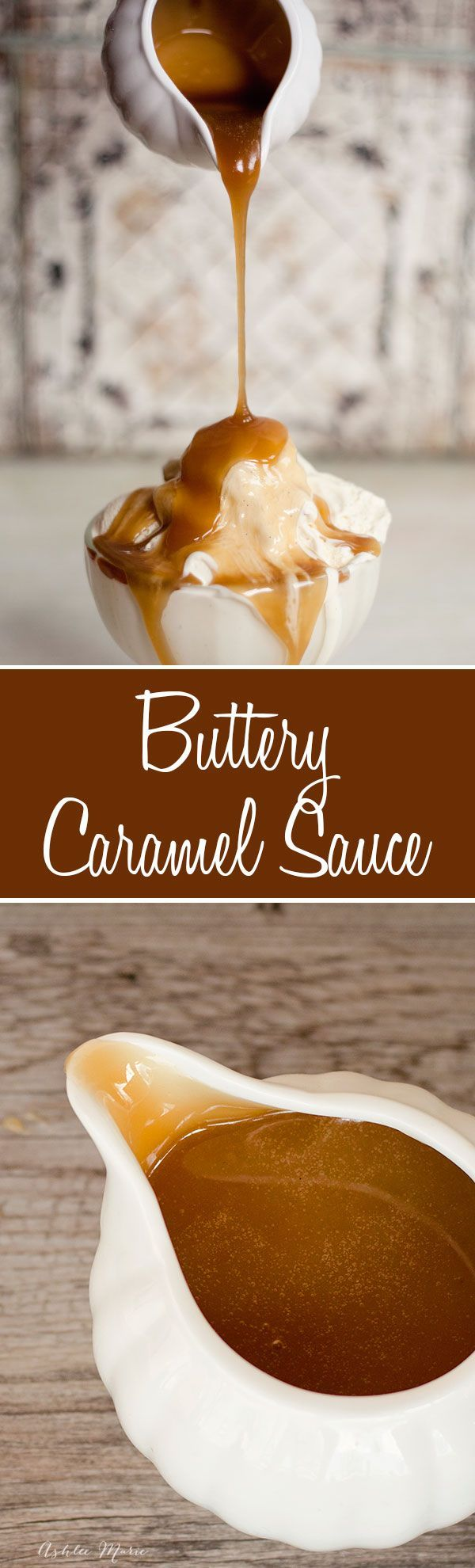 this homemade caramel sauce is buttery perfection, I eat it straight from the container, on ice cream cheesecake and more