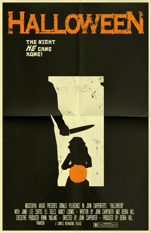 Minimal Movie Posters Halloween Movie Poster Movie Posters Vintage Horror Movie Posters