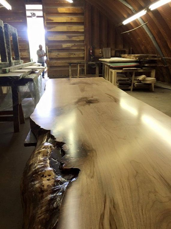 Toronto Live Edge Table - Single Slab Maple Slab Table - Custom Handcrafted Wood  Furniture - We ship throughout Canada and the USA  Canada, Live edge table  ...