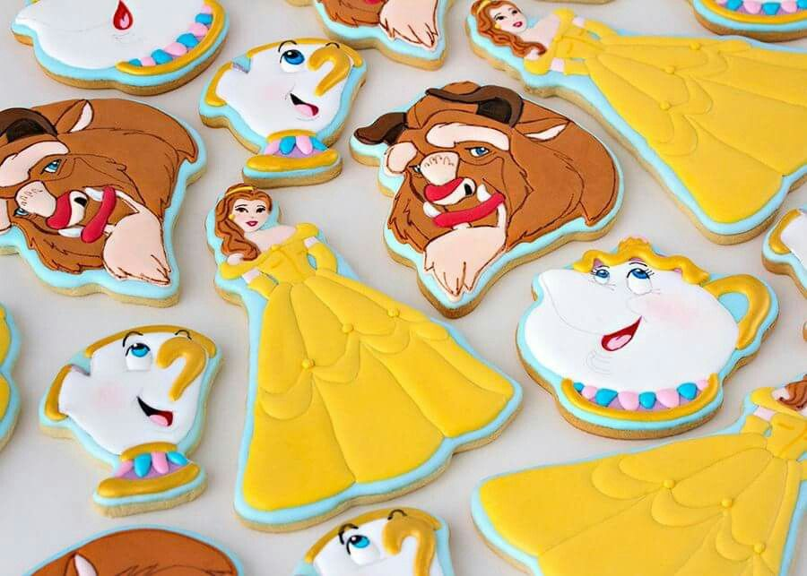 Beauty and the beast cookies cookie decorating princess