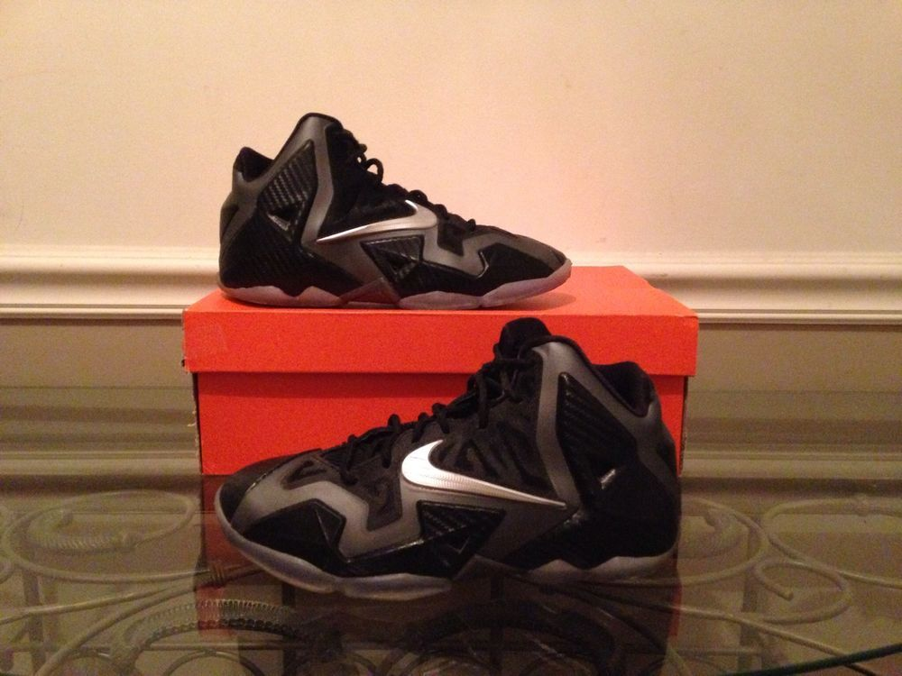size 40 483ce e5092 Nike Lebron XI 11 GS Miami Nights Blk Met Silver Pink Carbon Fiber  621712-002  Nike