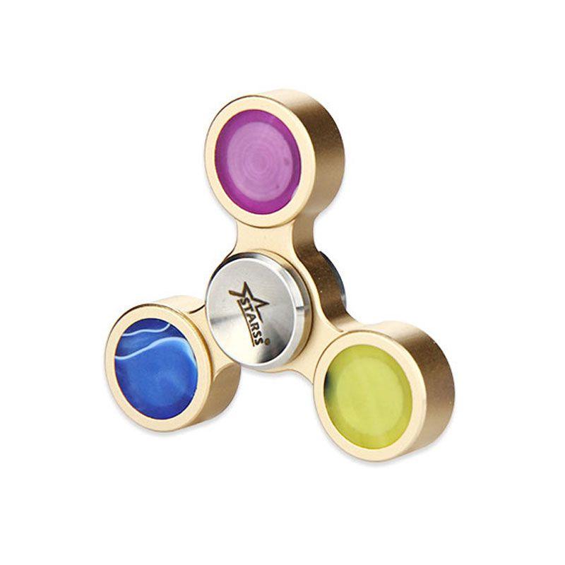 Do Dower PMMA Hand Spinner Fidget Focus Toys Tri-Bar Hand Fidget Spinner Stress Relief Spinning for 3 Minutes Spinner Hand