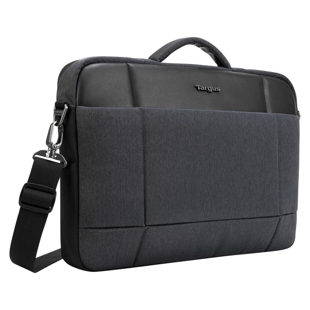 56d2d483ebcc Targus 15.6 Strata Pro Slim Brief Laptop Case - Charcoal Black (TSS952UST-)