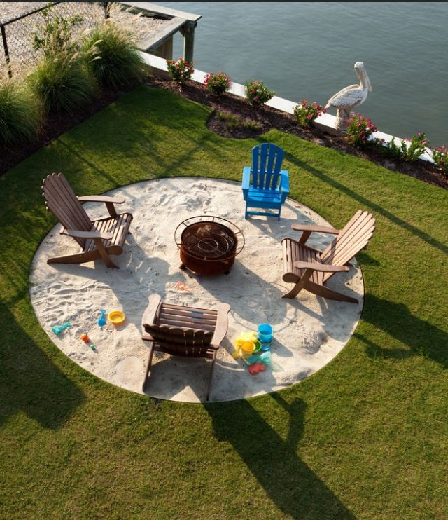 Sandpit For Kids And Adults. Backyard BeachBackyard ...