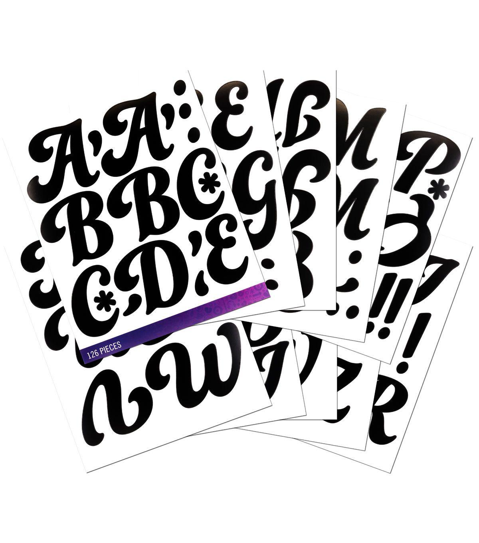 Sticko Alphabet Stickers Regular X-Large Gold Glitter Futura