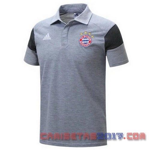 camiseta polo Bayern Munich 2016-17 gris  cb5754330660c