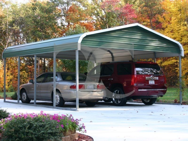 Carport Regular Roof 18W x 21L x 7H 2 Gables
