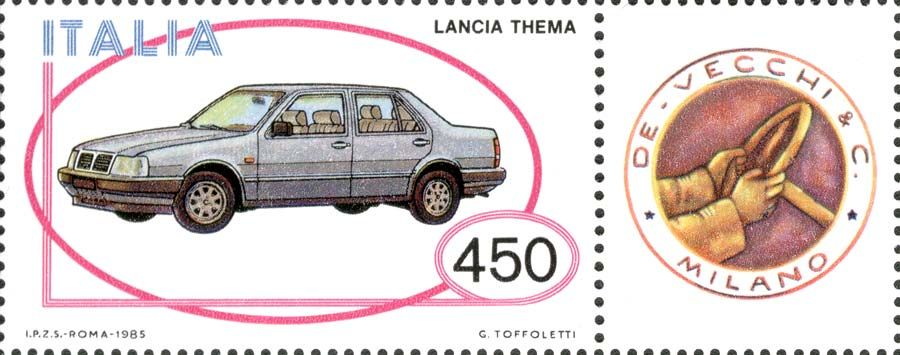 1985 - Industria italiana automobilistica - autovettura Lancia Thema