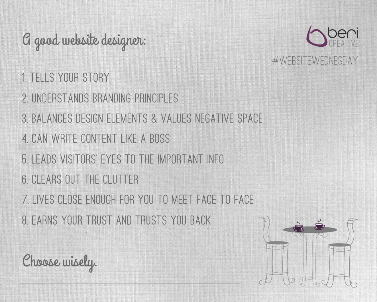 PLEASE read this blog before choosing your website designer - it's REALLY important! #WebsiteWednesday @BeriCreative http://bericreative.com/websitewednesday-5/