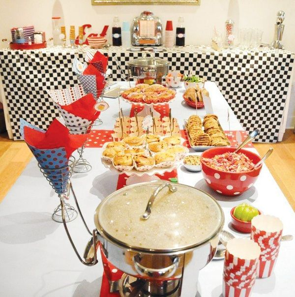Adorable retro diner birthday party diner party diners for 1950s party decoration