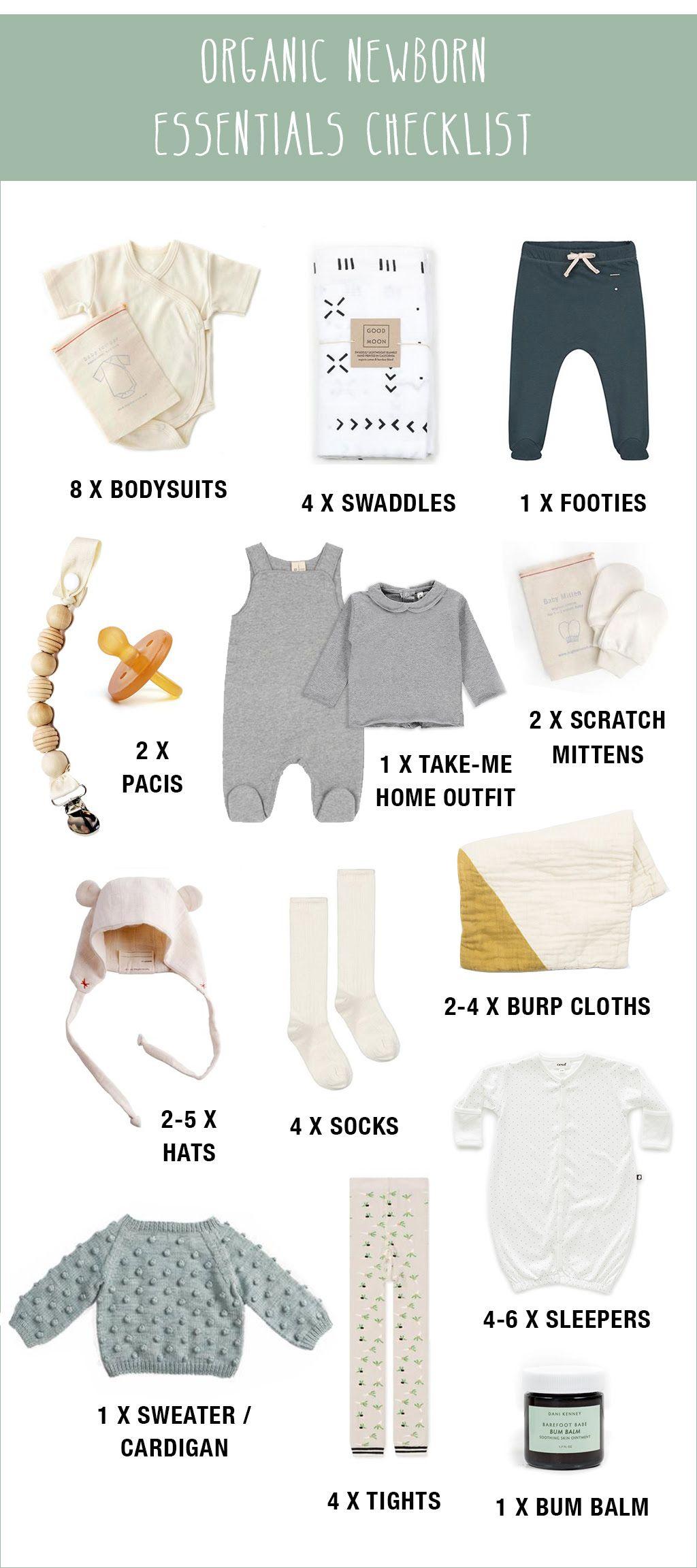 Organic Newborn Essentials Checklist Newborn Essentials Checklist Baby Essentials Newborn Wholesale Baby Clothes