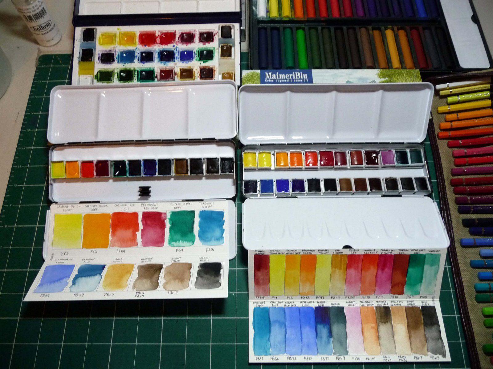 Maimeriblu Watercolor Watercolor Kit Watercolor Color Chart