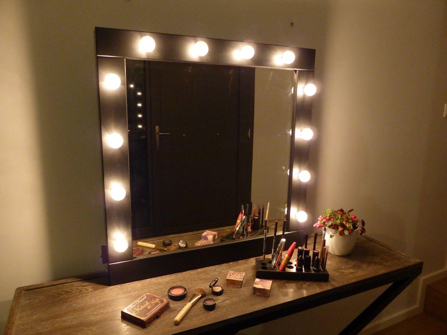 diy makeup vanity mirror with lights images  | room | pinterest