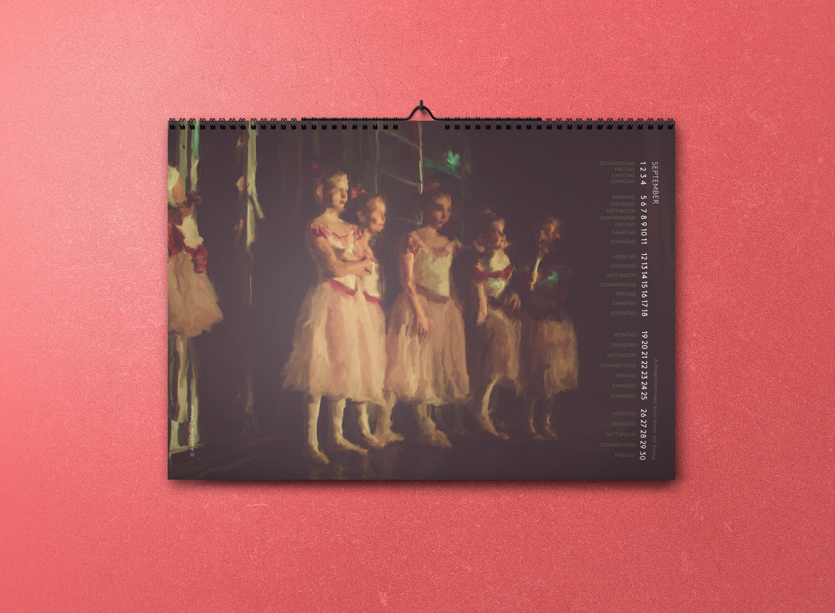 Ballett Malerei Kalender 2016 #ballett #calendar #dance #edgardegas You can buy here: http://www.alexanderlichtner.com/produkt/ballett-kalender-2016/