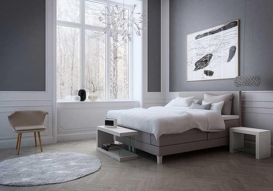 Luxe boxspring die past in een moderne slaapkamer. Boxspring ...
